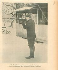Sir Hiram Stevens Maxim Fusil Silencieux New-York USA GRAVURE ANTIQUE PRINT 1909