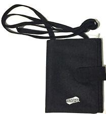 American Tourister Travel Wallet Passport Ticket ID Holder Neck Wallet Black