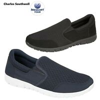 Mens Memory Foam Slip On Walk Summer Comfort Casual Gym Trainers Shoes Size UK