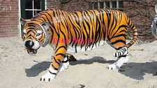 Tiger Figure Life-Size Large Garden Sculpture Africa Glass Fibre Tissue Dekofigur 1