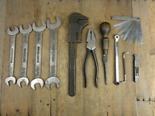 Classic Car Vintage Tool Kit Roll ~4 BMC SNAIL BRAND WHIT  SPANNERS PLIERS