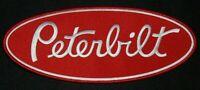 PETERBILT TRUCK LARGE PATCH  Trucker / Biker patch Sew/Iron on  9.75  x 4 inches