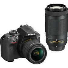 Nikon D3400 DSLR Camera with 18-55mm & 70-300mm Lenses (Black) (SMP5)