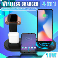 10W Wireless Charger Stand Multi-Function USB Charger Charging Dock Station
