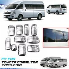 Chrome Mirror Hub Cover Full Set Plastic ABS For Toyota Hiace Commuter 2005-On