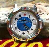 WATCH USSR commanding Soviet mechanical waterproof Submarine