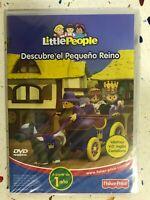 Little People DVD Nuovo Scopri Il Piccolo Regno Spagnolo Inglese Fisher Price