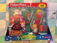 Vintage Little People Fisher Price Toy Christmas 1998 Surprise Original In Box