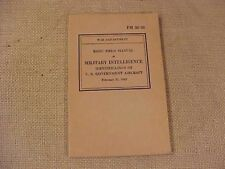 ORIGINAL WWII MILITARY INTELLIGENCE US AIRCRAFT ID BOOK - 1942