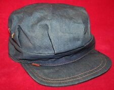 Vintage 70s LEVI'S Orange Tab Blue Denim Jean Newsboy HAT CAP Vtg BIKER 7 5/8