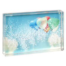 Bilderrahmen Schneekugel Acrylglas für10x15 cm Bilder zum Schütteln Witzig NEU