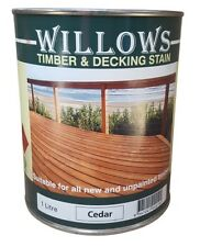 Willows Timber Deck Furniture Window Beams Stain Paint OiL Based 1L Cedar