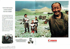 PUBLICITE ADVERTISING 125  1996  CANON  appareil photo (2p)  EOS 50B