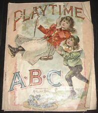 PLAYTIME ABC MCLOUGHLIN BROS CHILDRENS ILLUSTRATED EDUCATION
