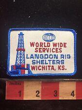 Vtg Wichita Kansas LANGDON AIG SHELTERS World Wide Services Patch S76B