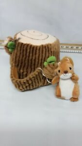 Jaynes Country Crafts soft toy Door Stop, Log and Squirrel, Plush, 1.1 Kg 2.5 lb