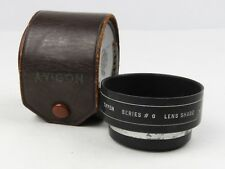 Tiffen Series #6 Lens Shade with #650 Adapter Ring for SLR camera + leather case