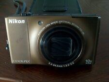Nikon COOLPIX S8000 14.2MP Digital Camera - Brown