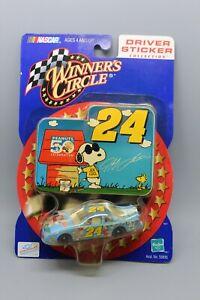 WINNER'S CIRCLE JEFF GORDON #24 PEANUTS DRIVER STICKER EDITION NASCAR 1:64 NIP