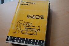 liebherr a902 speeder hydraulic excavator operation maintenance manual