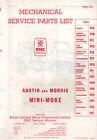 BMC Austin or Morris Mini Moke mk1 parts list AKD 3537 3538