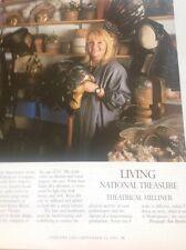 51401 ephemera 1997 Article Eileen Moore Theatre Milliner Hat Maker