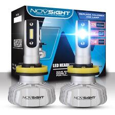 Novsight Coche Kit faros LED H11 H8 H9 6500K 10000LM Bombillas Lámparas Bajo Haz Par