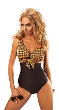 Top ladies swimming costume one piece swimsuit swimwear for women uk size 10-20