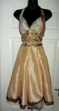 BEAUTIFUL  SILKY PEACH **PARISAN** SPECIAL OCCASION DRESS  SIZE 12-14