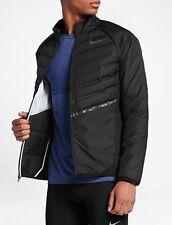 NIKE AEROLOFT Men's Running Jacket 800897-010 Black Size S New 100% Genuine