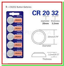 5 Batterie Pile Litio SONY CR2032 CR BR ECR KECR 2032 L14 SB-T15 LF-1/2V 5004L