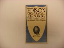 Original Edison Phonograph Catalog  - Edison Records April, 1908 Form 1300