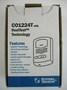 System Sensor CO1224T Carbon Monoxide Detector. Brand New. Free Shipping.