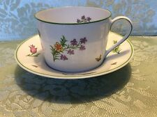 "TIFFANY & CO -- ""TIFFANY GARDEN"" -- CUP & SAUCER -- MINT,"