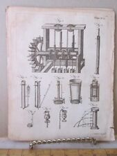 Vintage Print,PULLEY MACHINERY,Dictionary Arts+Science,1771