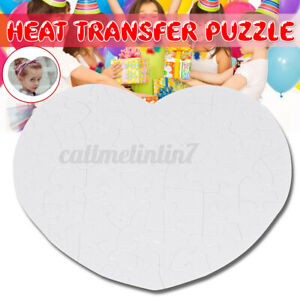 Heart Puzzle Blank 1-5 Sets Sublimation Blank Jigsaw Love Style Transfer Paper