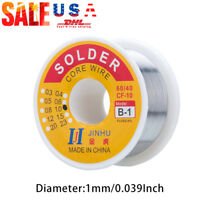 """60-40 Tin Lead Rosin Core Solder Wire for Electrical Solderding .039""""/1.0mm 100g"""
