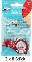 2 x 8 = 16 Stück TePe Interdentalbürste Original Rot ISO Größe 2 0,5 mm