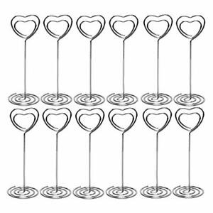 Table Number Card Holders 25 Pack Heart Shape Table Photo Holder Table Pictur...