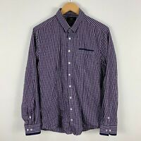 Calibre Mens Button Up Shirt Medium Slim Multicoloured Plaid Long Sleeve
