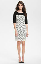 Suzi Chin for Maggy Boutique Lace Overlay Sheath Dress ( Size 12)