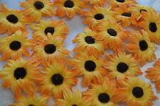 Sonnenblumen Blüten Tischdeko Streublumen Tischdeko orange braun