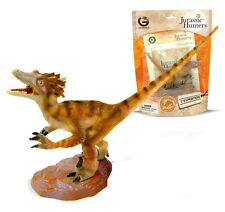GEOWORLD VELOCIRAPTOR JURASSIC HUNTERS EDUCATIONAL DINOSAUR FIGURES & FACT CARDS