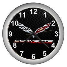Hot Chevy Chevrolet corvette racing Wall Clock