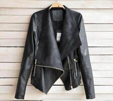 Women Men Fashion Jackets Lady Coat Biker Outerwear Motorcycle T3