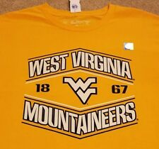 WVU West Virginia Mountaineers Football Basketball T-Shirt Yellow Mens Large L