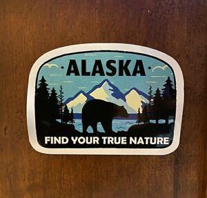 Alaska Sticker Find True Nature Waterproof - Buy Any 4 for $1.75 Each Storewide!