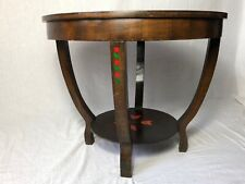 1 Vintage Small French Round Cherrywood Paris Roses Coffee Table Living Room