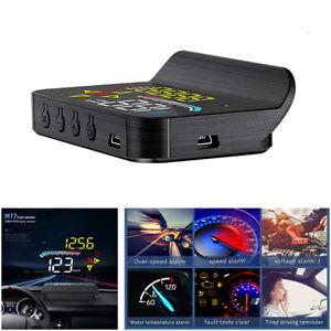 Car Digital OBD2 GPS Speedometer Head Up Display Overspeed Tired Warning Alarm
