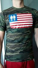 Mens tshirt sexy gay marriage camouflage army gay hot muscle USA flag hunk too